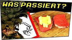 Dieses Nahrungsmittel VERDAUT DICH! EXPERIMENT Ananas auf Fleisch - Experimente zum nachmachen #95