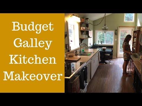 Galley Kitchen Ideas Budget Kitchen Makeover Youtube