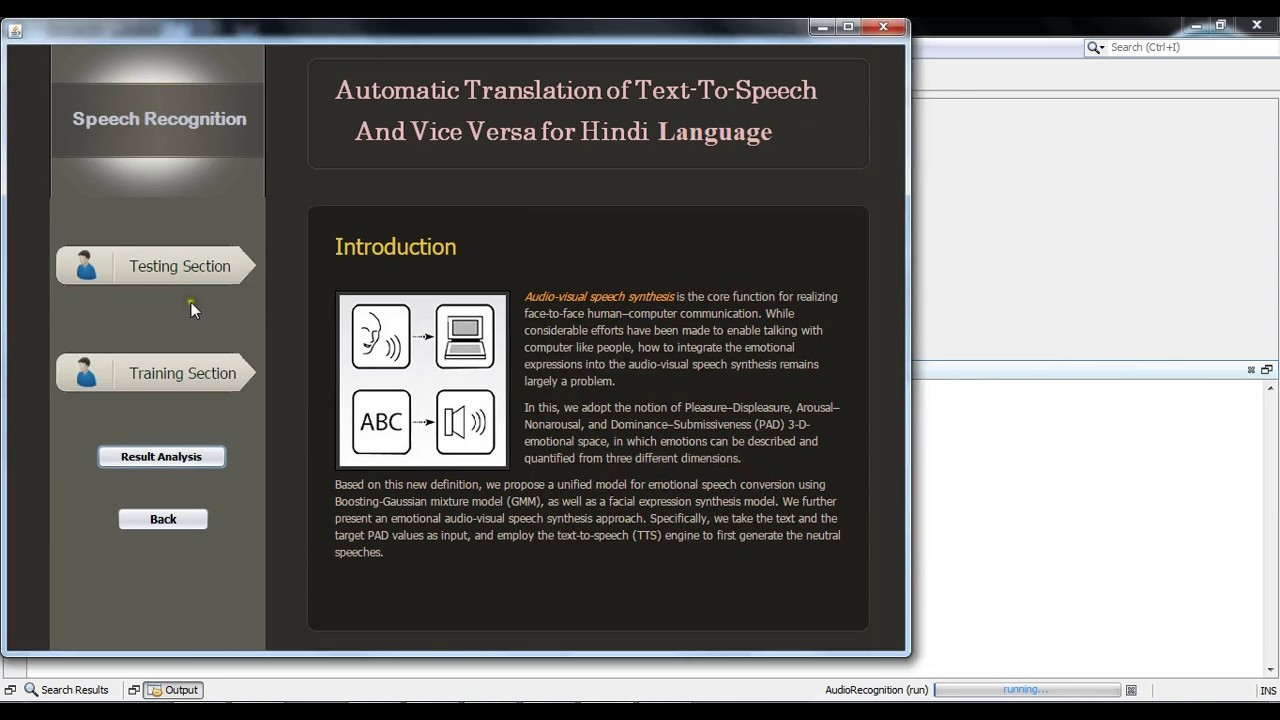Hindi Text To Speech, Speech To Text, Audio Emotion Detection and Face  Expression Detection