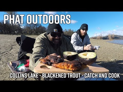 PHAT Outdoors | Collins Lake | Blackened Trout | Catch And Cook