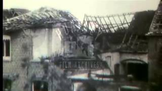 The flooding of Belgium by the Belgian army in 1914 at the start of World War One. Film 13178