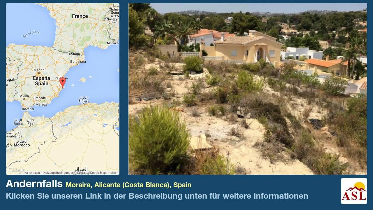 Moraira Spain Map.Andernfalls Zu Verkaufen In Moraira Alicante Costa Blanca Spain