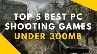 TOP 5 BEST PC SHOOTING GAMES UNDER 300MB | LINKS GIVEN | TECFUN