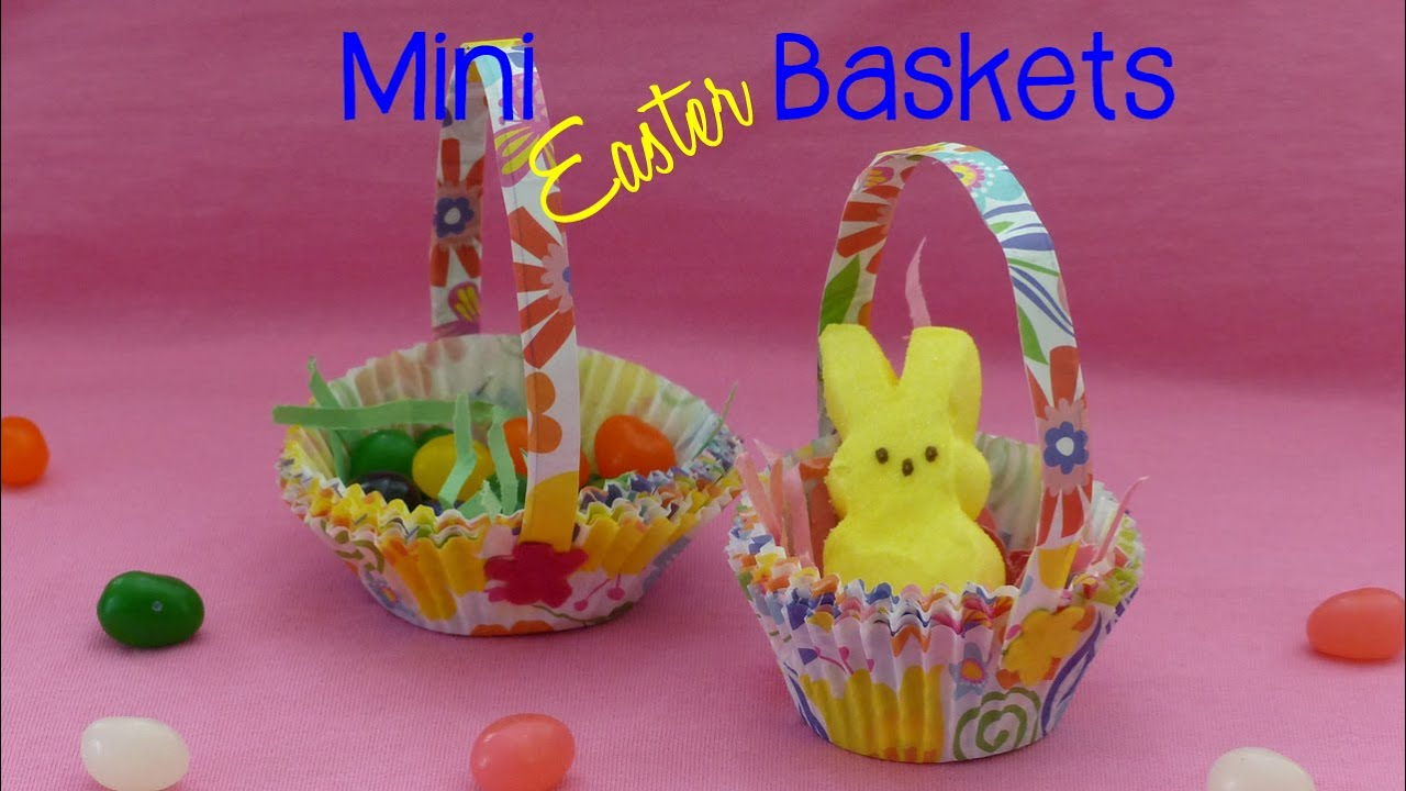 Diy mini easter baskets kids easter craft youtube negle Choice Image