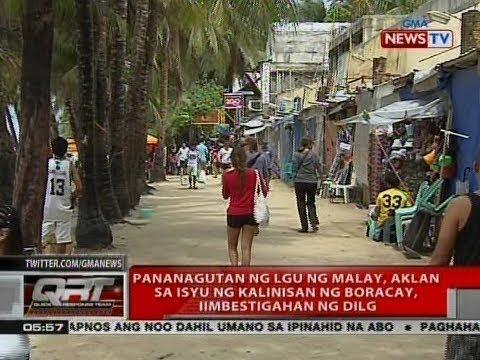 Pananagutan ng LGU ng Malay, Aklan sa isyu ng kainisan ng Boracay, iimbestigahan ng DILG
