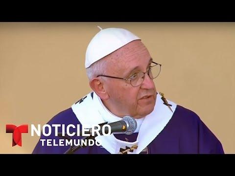 Latinos reaccionan a las palabras del papa contra Trump   Noticiero   Noticias Telemundo