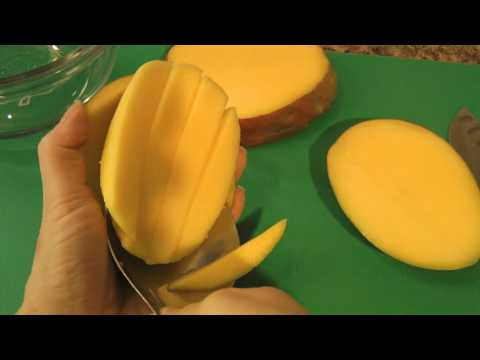 How to Cut a Mango - Easy Tutorial Video - Tips & Tricks #4