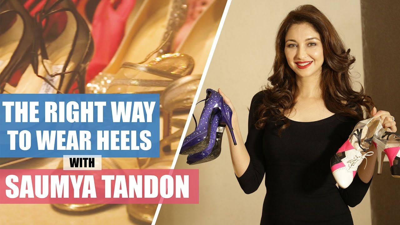 Saumya Tandon on the right way to wear high heels | How to wear high heels | Fashion | Pinkvilla