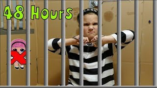 48 Hours In Box Fort Jail!! 48 Hours With No Lol Dolls!