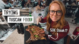 Florence FOOD TOUR! - Eating Tuscan Dishes at Florence Central Market 🍽 (Italy)
