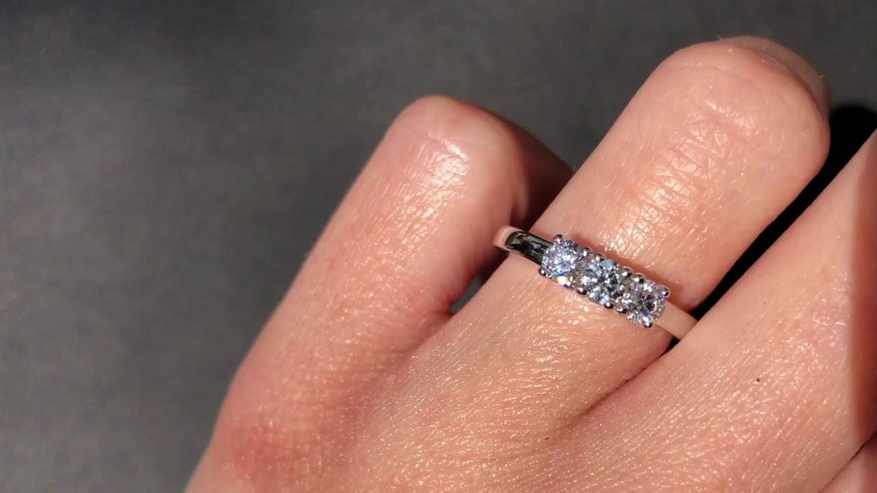 05e69ce52a5e Anillos de Compromiso oro blanco 18k con 3 diamantes - Ref ac018 - 0 ...