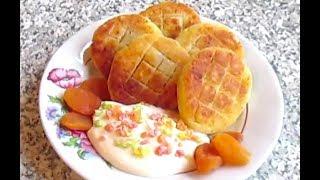 Творожные сырники с фруктовой начинкой