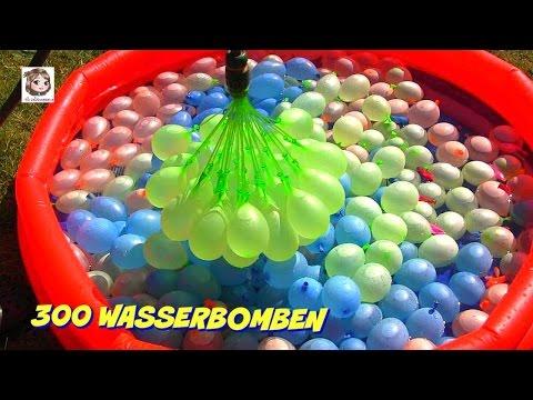 300-wasserbomben-🎈-und-eine-meerjungfrau-🎈-bunch-o-balloons-demo