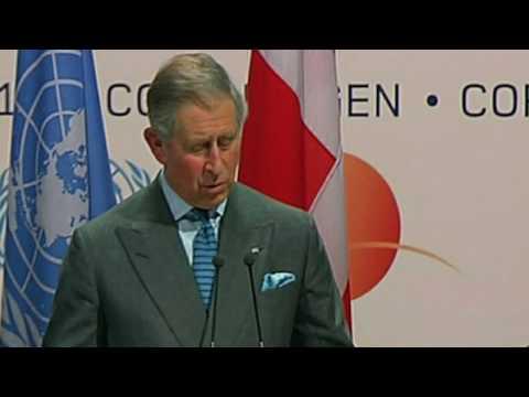 Prince Charles addresses climate delegates in Copenhagen