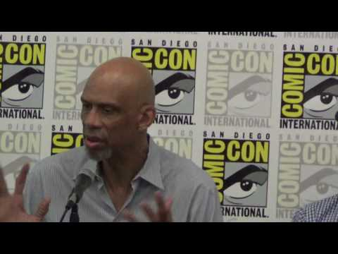 Mycroft Holmes comic book San Diego Comicon 2016 panel with Kareem Abdul-Jabbar