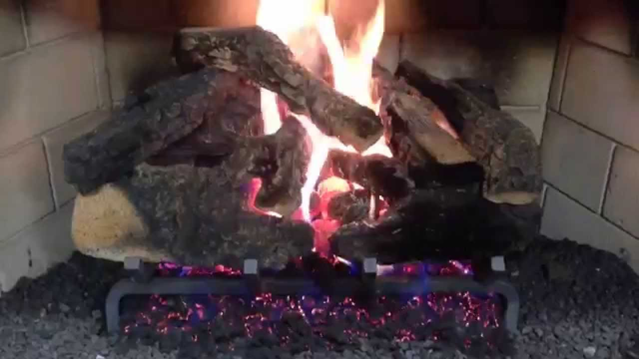 fireplace gas logs at casual image in marietta ga youtube