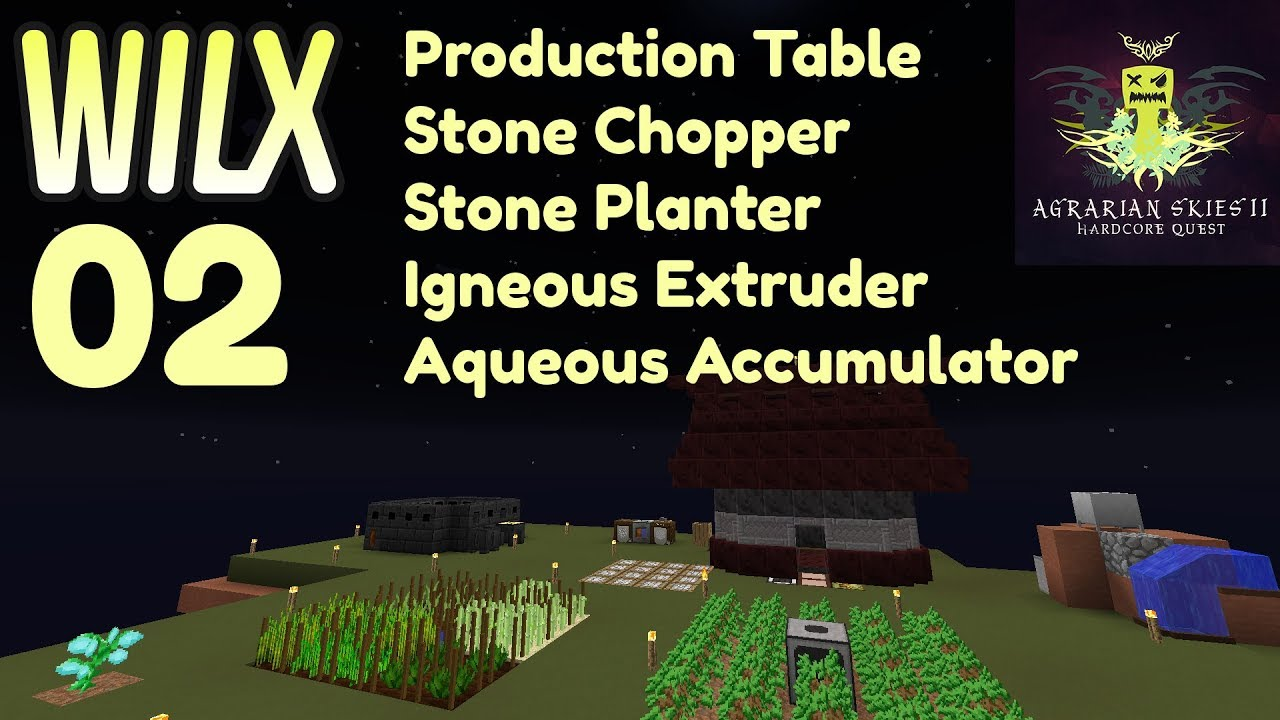 02 - Production Table, Stone Chopper, Stone Planter - Agrarian Skies 2