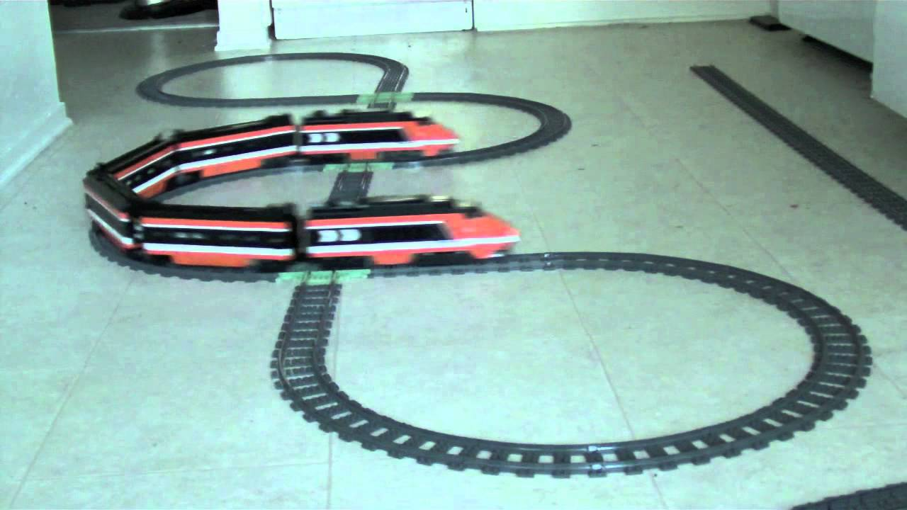 LEGO Train with 3D Printed Cross Tracks