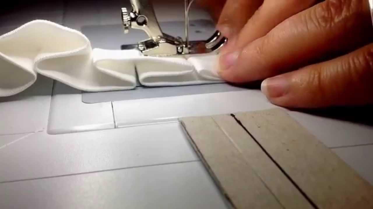 Rüschen nähen einfach gemacht (Teil 3) - YouTube