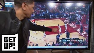 Jalen Rose breaks down film to show how Rockets can stop Steph Curry | Get Up! | ESPN
