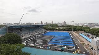 "(Tokyo 2020 Games)""Oi Hockey Stadium""  Time-Lapse footage"