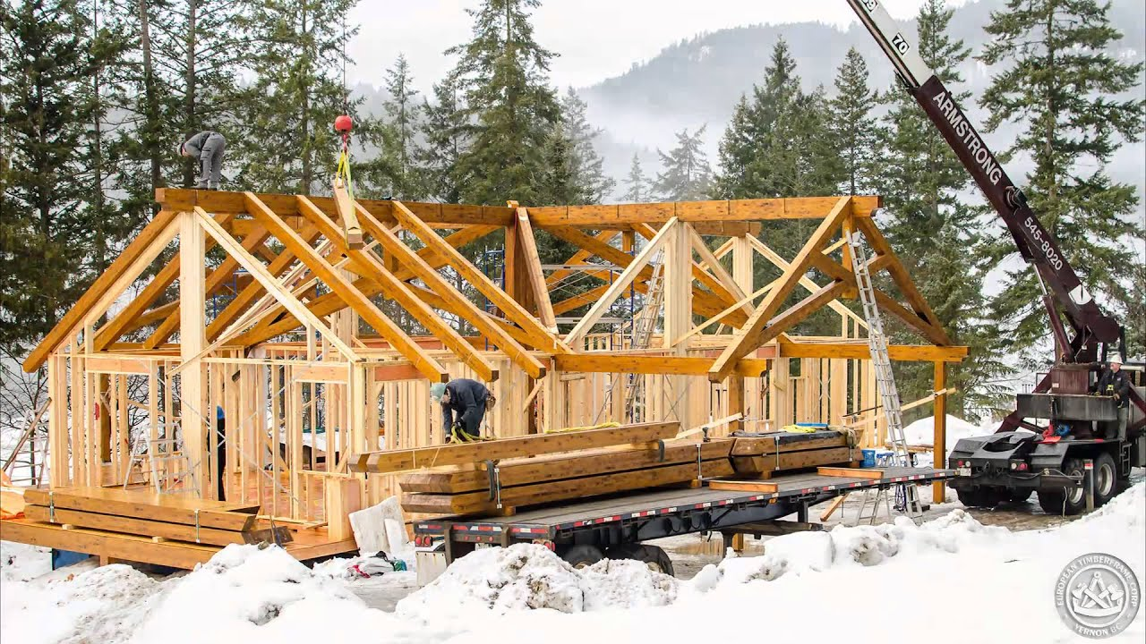 Scissor Truss Timberframe Assembly Youtube