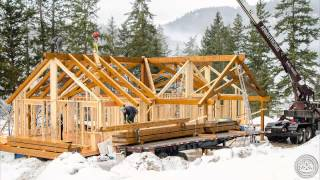 Scissor Truss Timberframe Assembly