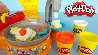 Play-Doh making toy breakfast unboxing and playing