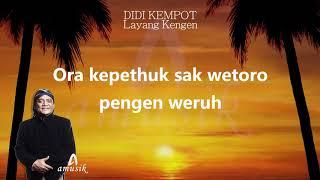 Download Tanpa Iklan Lirik Musik Terbaru Layang Kangen Didi