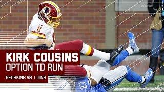 Kirk Cousins Runs the Read Option for a Clutch TD! | Redskins vs. Lions | NFL