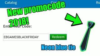 Roblox novo código promocional 2018 (Neon Blue tie)