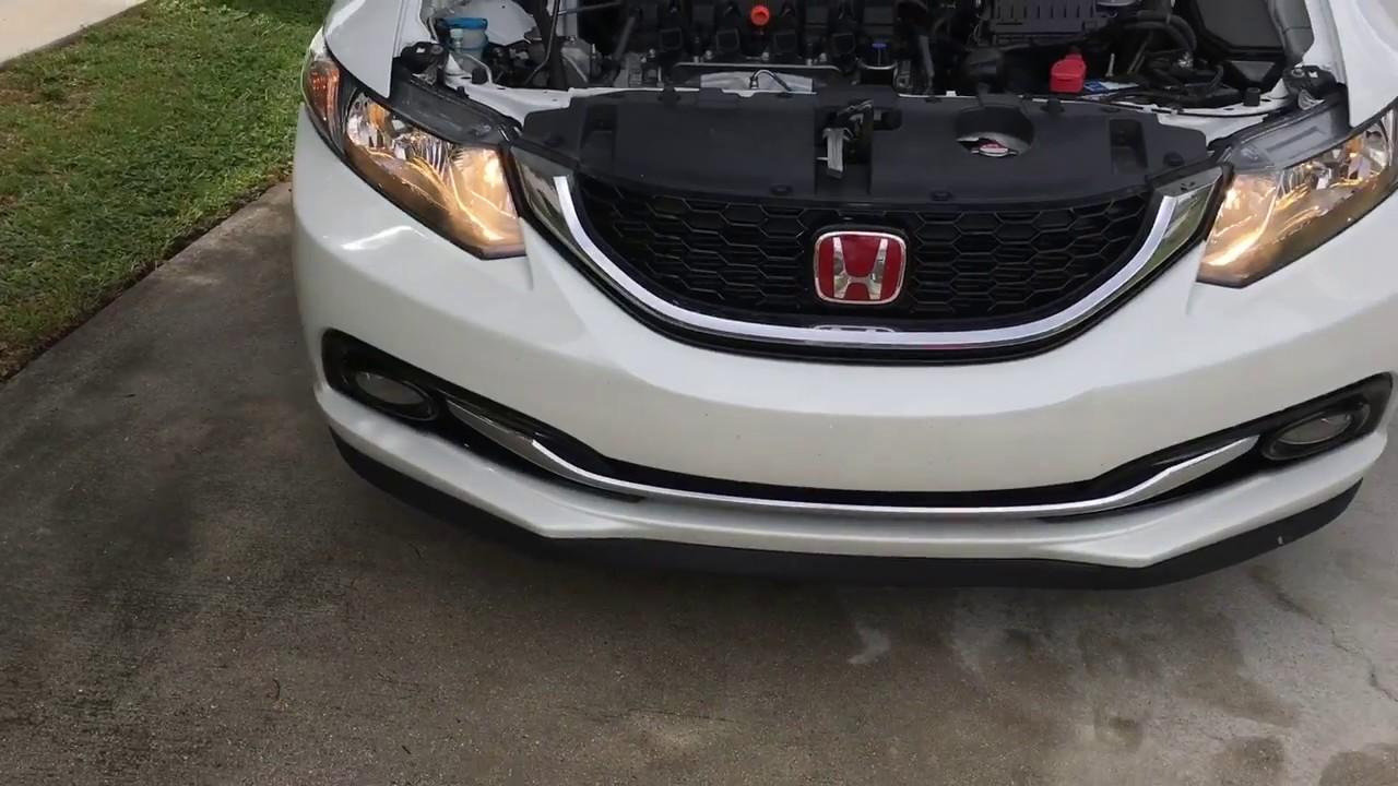 2012-2015 Honda Civic High Beam Bulb Change Diy