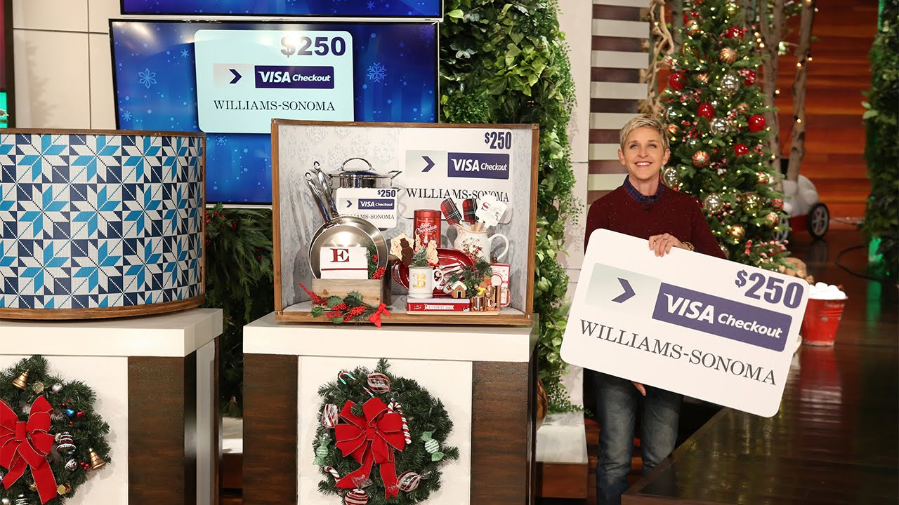 When was the first christmas giveaway on ellen