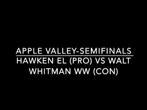 Hawken EL vs Walt Whitman WW-Apple Valley Semifinals + RFDs