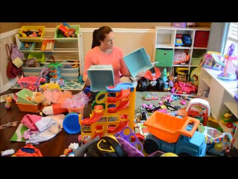 Organizing The Kids Playroom In Under 20 Minutes   YouTube