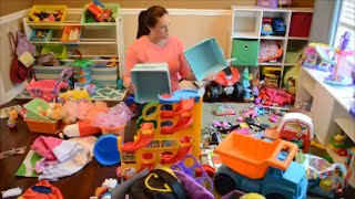 Organizing the kids playroom in under 20 minutes