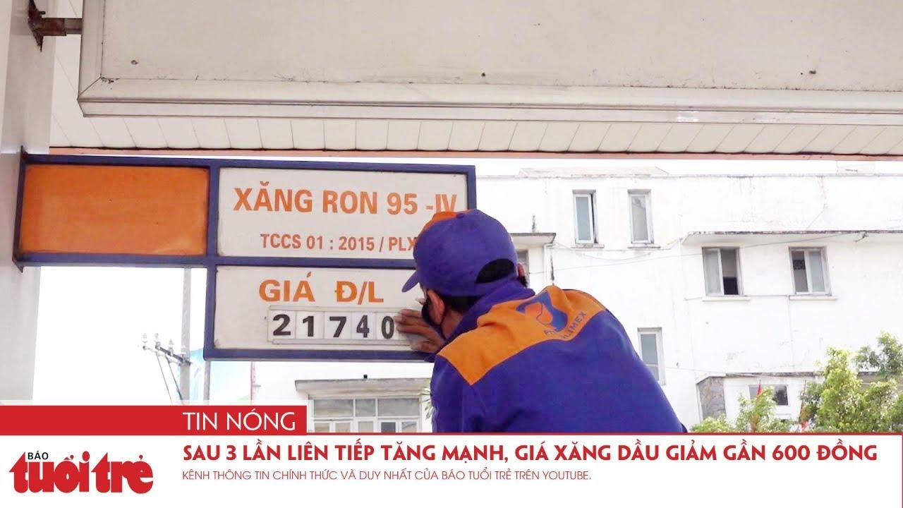 Sau 3 lần liên tiếp tăng mạnh, giá xăng dầu giảm gần 600 đồng