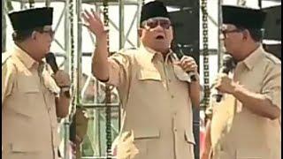 Orasi Prabowo nyinyir sambil niru2 gaya Jokowi. Hasilnya malah begini nih...