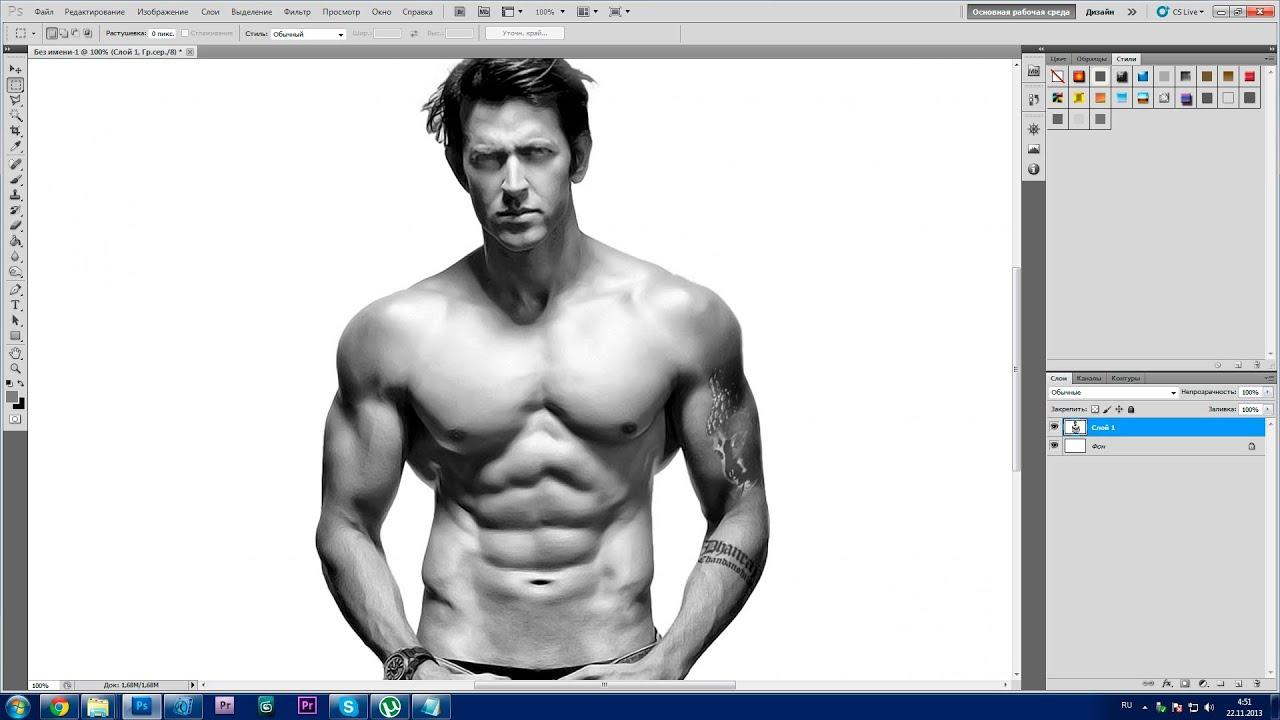 Урок Photoshop. 752 канал (Урок #20 Как при помощи фотошопа нравиться женщинам?) (#ЕвгенийКулик)