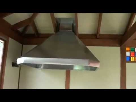 Вентилятор над мангалом - YouTube