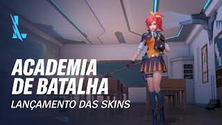 League of Legends: Wild Rift – Academia de Batalha | Lançamento de Skins