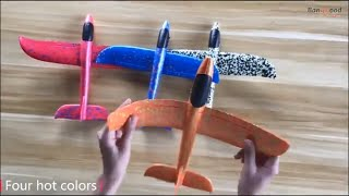 Small RC plane (Glider) 48cm DIY, toy for kids!!!