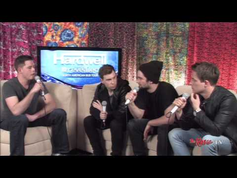 TheRave.TV backstage interview with Hardwell, Dyro, and Dannic