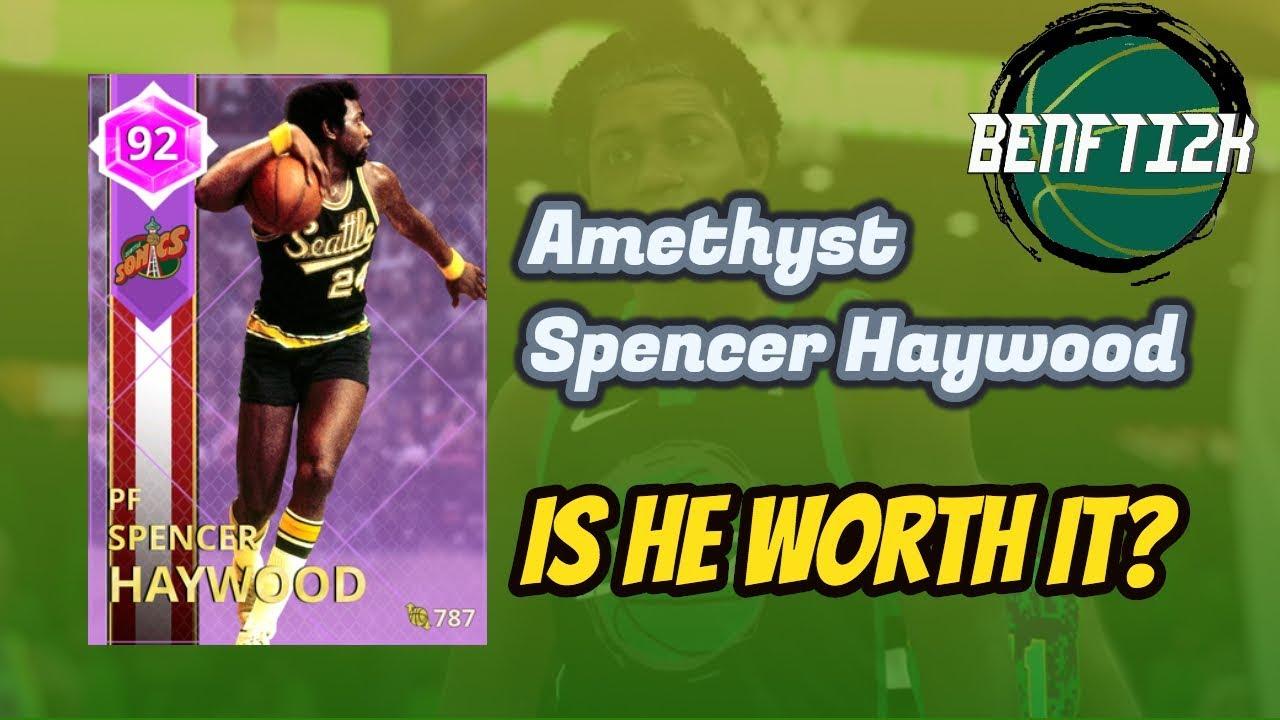 NBA 2K18 Amethyst Spencer Haywood CRAZY EYES is he worth it