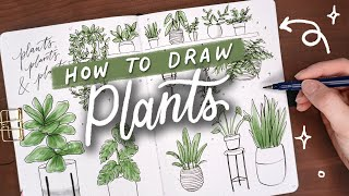 How to Draw Plants! | DΟODLE WITH ME + TUTORIAL