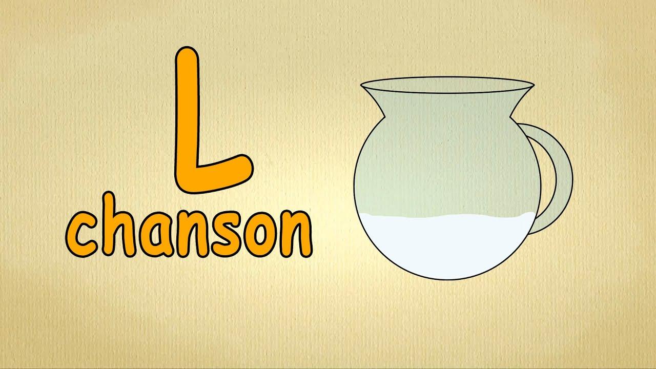 Francais alphabet chanson apprendre la lettre l for Cuisinier francais 7 lettres