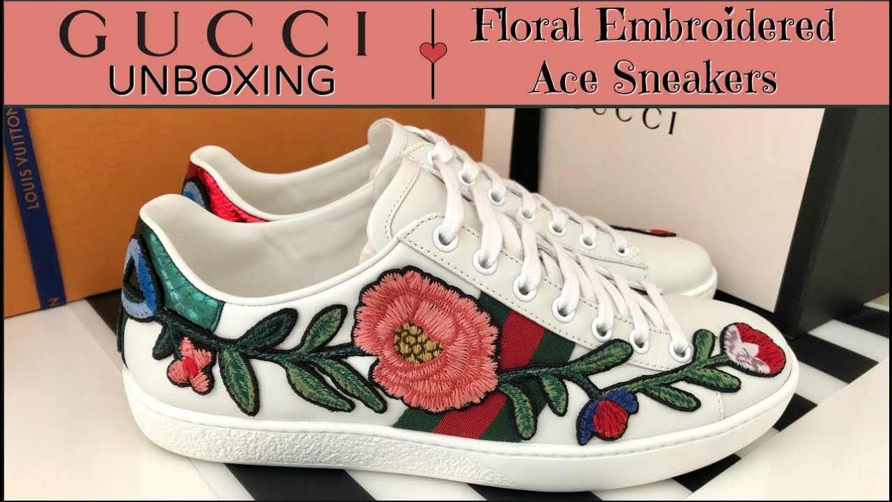 Floral Embroidered Ace Sneakers