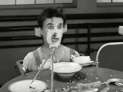 Filme Tempos Modernos -  Charlie Chaplin