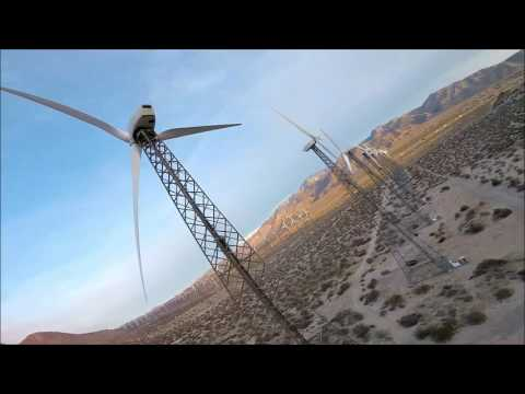 Palm Springs Wind Turbines Sunrise  Drone Go Pro Session 5