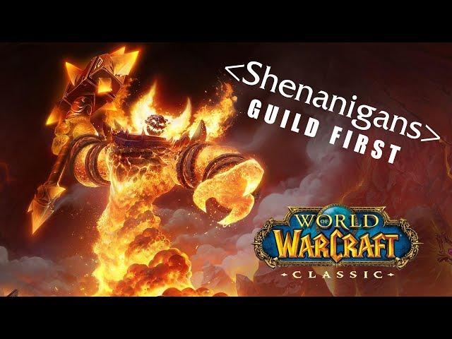 Shenanigans - Guild First Ragnaros Kill (World of Warcraft: Classic)